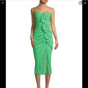 Likely Strapless Jordana Floral Print Midi Dress